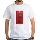 English phone box Mens White T-shirts