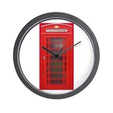 British Phone Booth Wall Clock