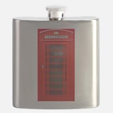 British Phone Booth Flask