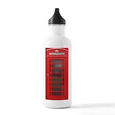 British Phone Booth Water Bottle
