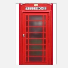 British Phone Booth Postcards (Package of 8)