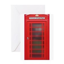 British Phone Booth Greeting Card