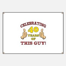 40th Birthday Gift For Him Banner