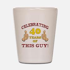 40th Birthday Gift For Him Shot Glass