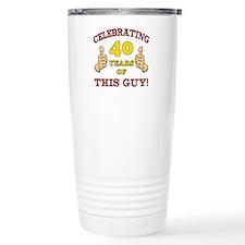 40th Birthday Gift For Him Travel Mug