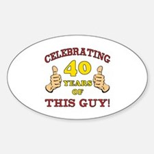 40th Birthday Gift For Him Decal