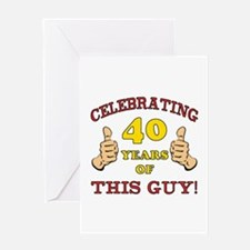 40th Birthday Gift For Him Greeting Card