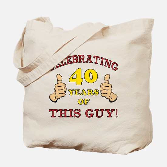 40th Birthday Gift For Him Tote Bag