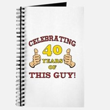 40th Birthday Gift For Him Journal