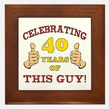 40th Birthday Gift For Him Framed Tile