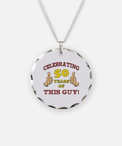 50th Birthday Gift For Him Necklace
