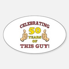 50th Birthday Gift For Him Decal