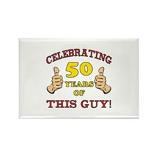 50th Birthday Gift For Him Rectangle Magnet