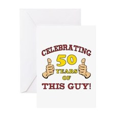 50th Birthday Gift For Him Greeting Card