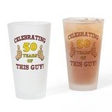 50th birthday for men Pint Glasses
