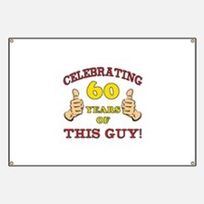 60th Birthday Gift For Him Banner
