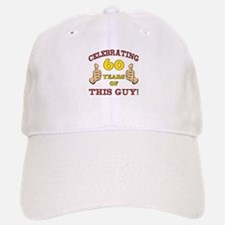 60th Birthday Gift For Him Baseball Baseball Cap