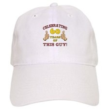60th Birthday Gift For Him Baseball Cap
