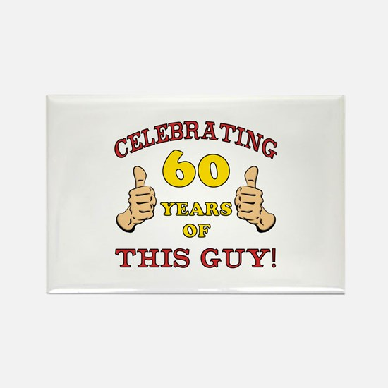 60th Birthday Gift For Him Rectangle Magnet