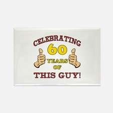 60th Birthday Gift For Him Rectangle Magnet (10 pa