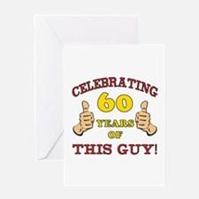 60th Birthday Gift For Him Greeting Card