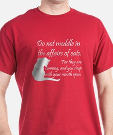 Don't Meddle with Cats Cardinal T-Shirt