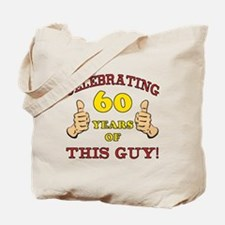 60th Birthday Gift For Him Tote Bag