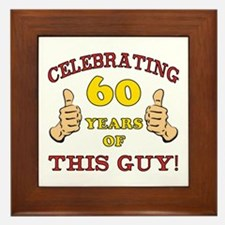 60th Birthday Gift For Him Framed Tile