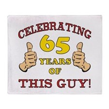 65th Birthday Gift For Him Throw Blanket