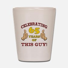 65th Birthday Gift For Him Shot Glass