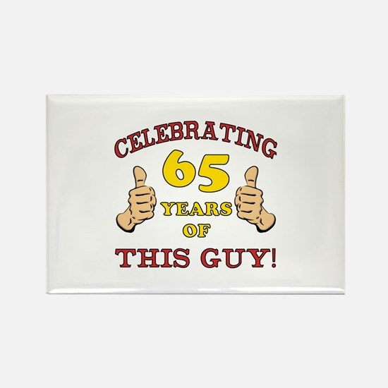 65th Birthday Gift For Him Rectangle Magnet