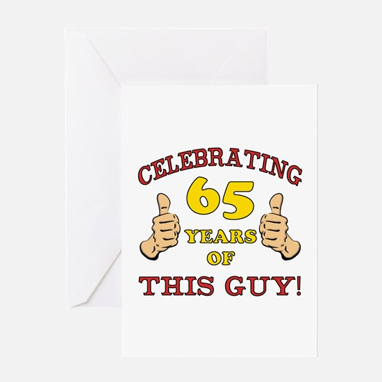 65th Birthday Gift For Him Greeting Card