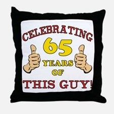 65th Birthday Gift For Him Throw Pillow