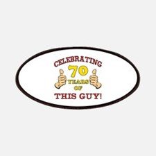 70th Birthday Gift For Him Patches