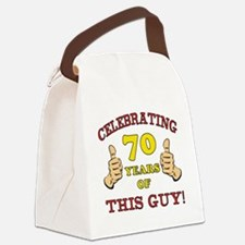 70th Birthday Gift For Him Canvas Lunch Bag