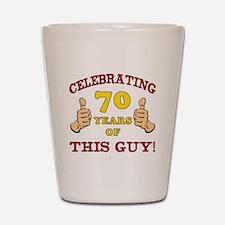 70th Birthday Gift For Him Shot Glass
