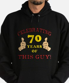 70th Birthday Gift For Him Hoodie (dark)