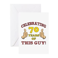 70th Birthday Gift For Him Greeting Cards (Pk of 1