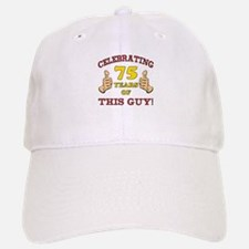 75th Birthday Gift For Him Baseball Baseball Cap