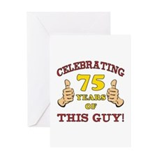 75th Birthday Gift For Him Greeting Card