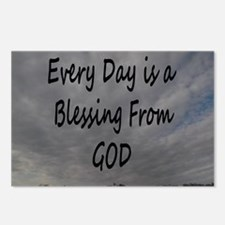 Every day Is a Blessing From God. Postcards (Packa