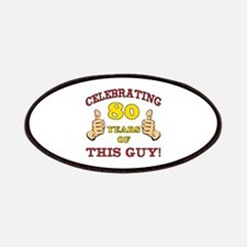 80th Birthday Gift For Him Patches