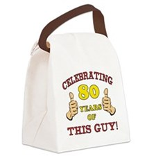 80th Birthday Gift For Him Canvas Lunch Bag