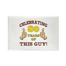 80th Birthday Gift For Him Rectangle Magnet