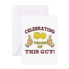 80th Birthday Gift For Him Greeting Card