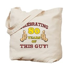 80th Birthday Gift For Him Tote Bag