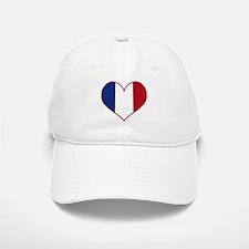 Heart France Flag Baseball Baseball Cap