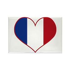 Heart France Flag Rectangle Magnet