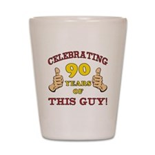 90th Birthday Gift For Him Shot Glass