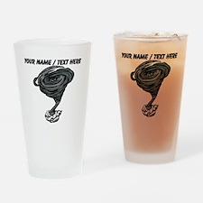 Custom Tornado Cartoon Drinking Glass